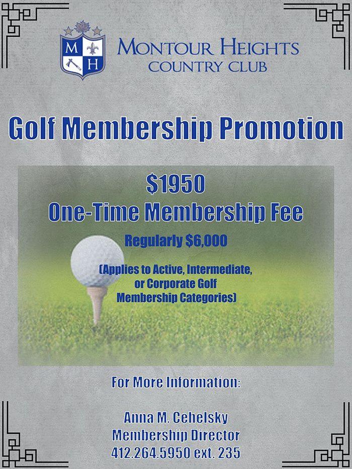 MHCC Golf Membership Promotion