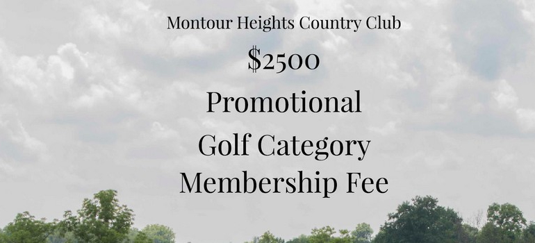 2020 Golf Membership Promo