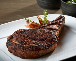 New Menu Items – 45-Day, Dry Aged Prime New York Strip Steak