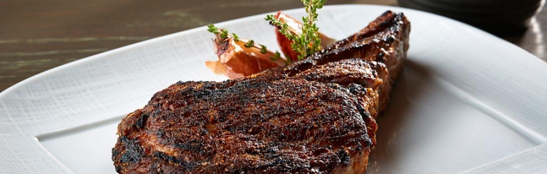 New Menu Items – 45-Day, Dry Aged Prime New York Strip Steak